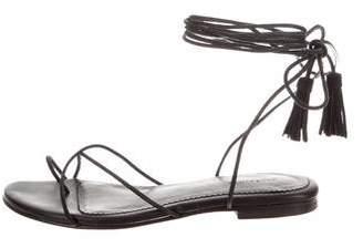 AllSaints Leather Wrap-Around Sandals