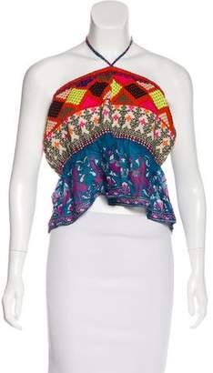 Calypso Strapless Embroidered Top w/ Tags