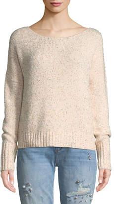 Rebecca Minkoff Katia Sequined Scoop-Neck Pullover Sweater
