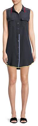 Equipment Sleeveless Silk Shirtdress