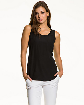 Le Château Crepe de Chine Scoop Neck Blouse
