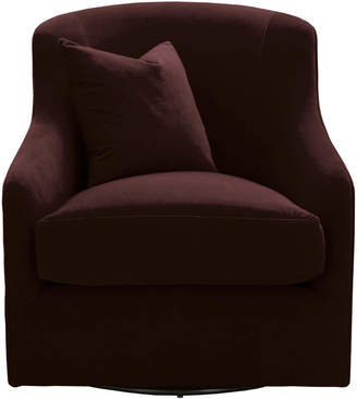 Lulu & Georgia Maelle Swivel Chair, Dark Auburn