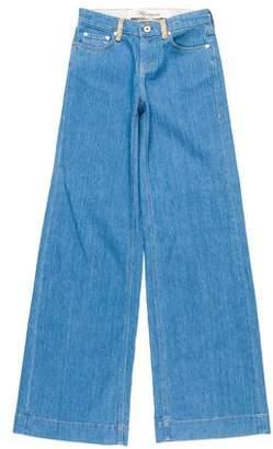 Blumarine Mid-Rise Wide-Leg Jeans w/ Tags