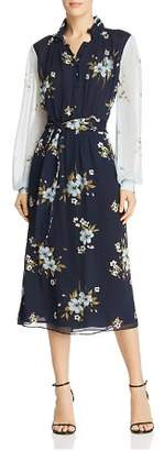 Joie Abbryana Color-Block Silk Dress