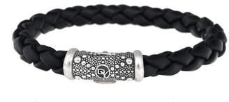 David Yurman Sterling Silver Braided Rubber Bracelet