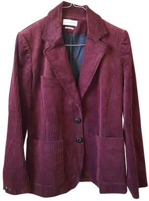 Etoile Isabel Marant Burgundy Velvet Jackets