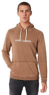 New Banks Men's Label Mens Pullover Fleece Cotton Polyester Brown