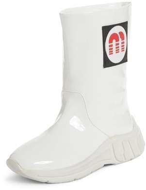 Miu Miu Logo Rainboot