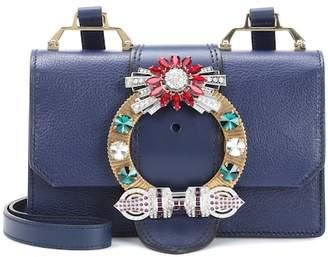 Miu Miu Embellished leather shoulder bag
