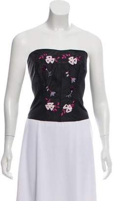 Anne Fontaine Embroidered Corset Top w/ Tags