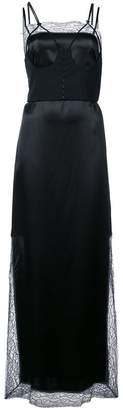 Maison Margiela lace-hem maxi dress