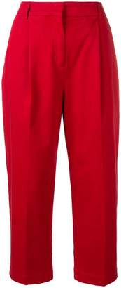 YMC cropped straight-leg trousers