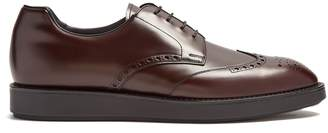 Prada Raised-soled leather brogues