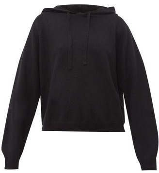 Allude Wool Blend Hooded Sweater - Womens - Black