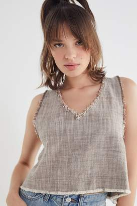 Urban Outfitters Rori Frayed Hem Tank Top