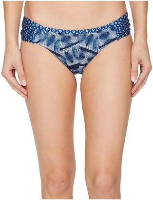 Lucky Brand Nomad Ikat Reversible Side Sash Hipster Bottom Women's Swimwear