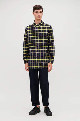 Cos CHECKED COTTON-FLANNEL SHIRT