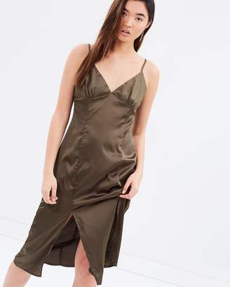 MinkPink Silky Slip Midi Dress