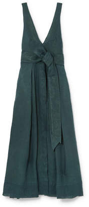 DAY Birger et Mikkelsen Kalita - Poet By The Sea Linen Maxi Dress - Emerald