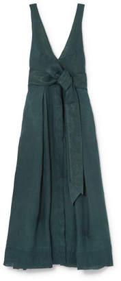 DAY Birger et Mikkelsen Kalita - Poet By The Sea Linen Maxi Dress - Emerald