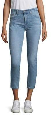 AG Jeans Mid-Rise Cropped Jeans