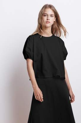 Velvet by Graham & Spencer AYLA STRUCTURED COTTON PUFF SLEEVETOP