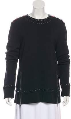 Gucci Spiked Zip-Accented Sweatshirt