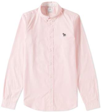 Paul Smith Button Down Zebra Oxford Shirt