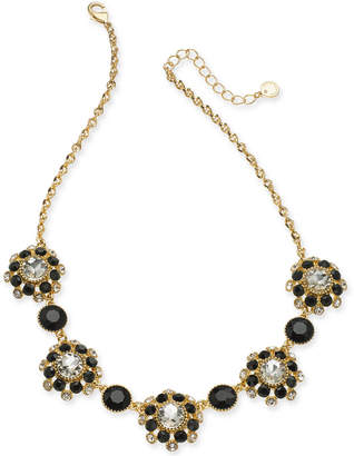 "Charter Club Gold-Tone Crystal & Stone Statement Necklace, 17"" + 2"" extender"