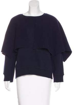 Burberry Cape Overlay Knit Sweater