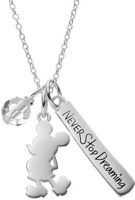 Disney's Mickey Mouse Sterling Silver Charm Pendant Necklace - Made with Swarovski Crystals $150 thestylecure.com