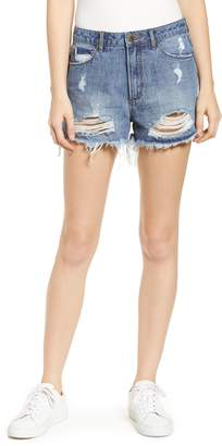 Articles of Society Meredith Ripped High Waist Denim Shorts