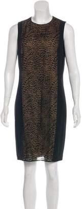 Akris Lace-Paneled Wool Dress