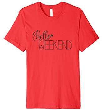 Hello Weekend with star: Asphalt Grey