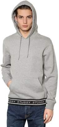 Stussy Jacquard Hooded Cotton Sweatshirt