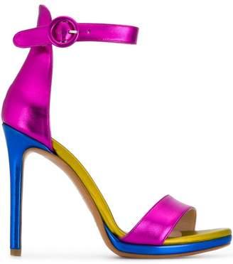 Albano metallic open-toe pumps