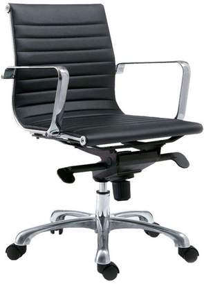 Moe's Home Collection Omega Office Chair Low Back Black