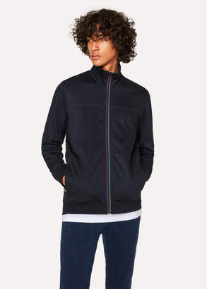 Paul Smith Men's Dark Navy 'Cycle Stripe' Zip-Front Track Top