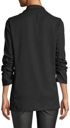 Max Studio Long Ruched-Sleeve Blazer