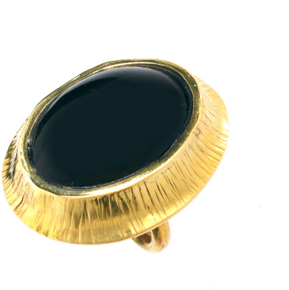Mirabelle Adjustable Statement Glass Ring