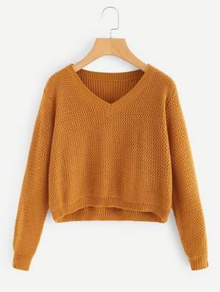Shein V-Neck Crop Sweater