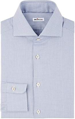 Kiton Men's Micro-Dot Cotton Jacquard Dress Shirt