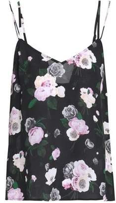 Equipment Floral-Print Silk-Georgette Camisole