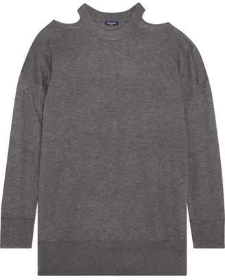 Splendid Canarise Cutout Stretch-knit Sweater - Gray