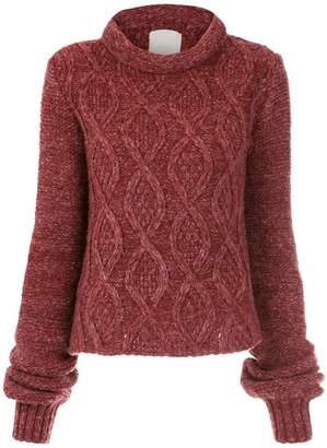 Framed Fluffy knitted top