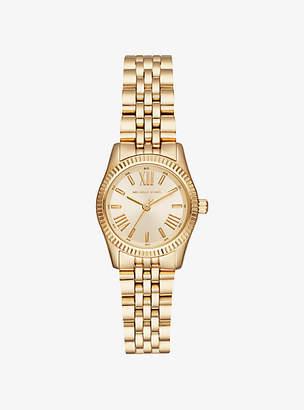 Michael Kors Petite Lexington Gold-Tone Watch
