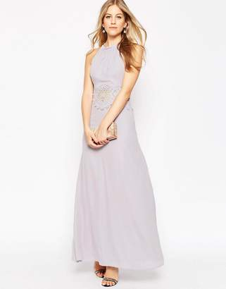 Asos Design Occasion Lace Insert Maxi Dress