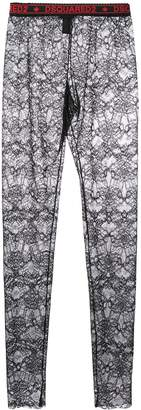 DSQUARED2 lace logo trousers
