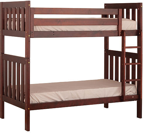 Canwood Alpine II Twin over Twin Bunk Bed with Vertical Ladder/Guard Rail - Cherry