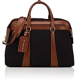 Anthony Logistics For Men T. Men's Canvas & Leather Weekender Bag - Black